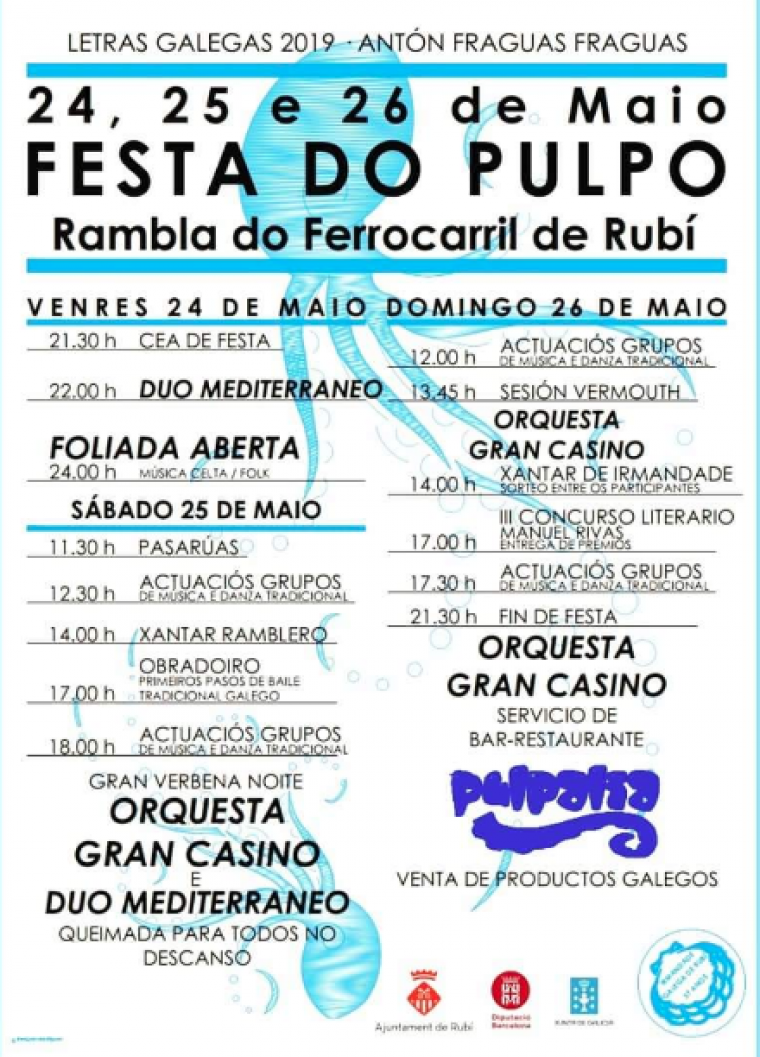 Programa de la Festa do Pulpo