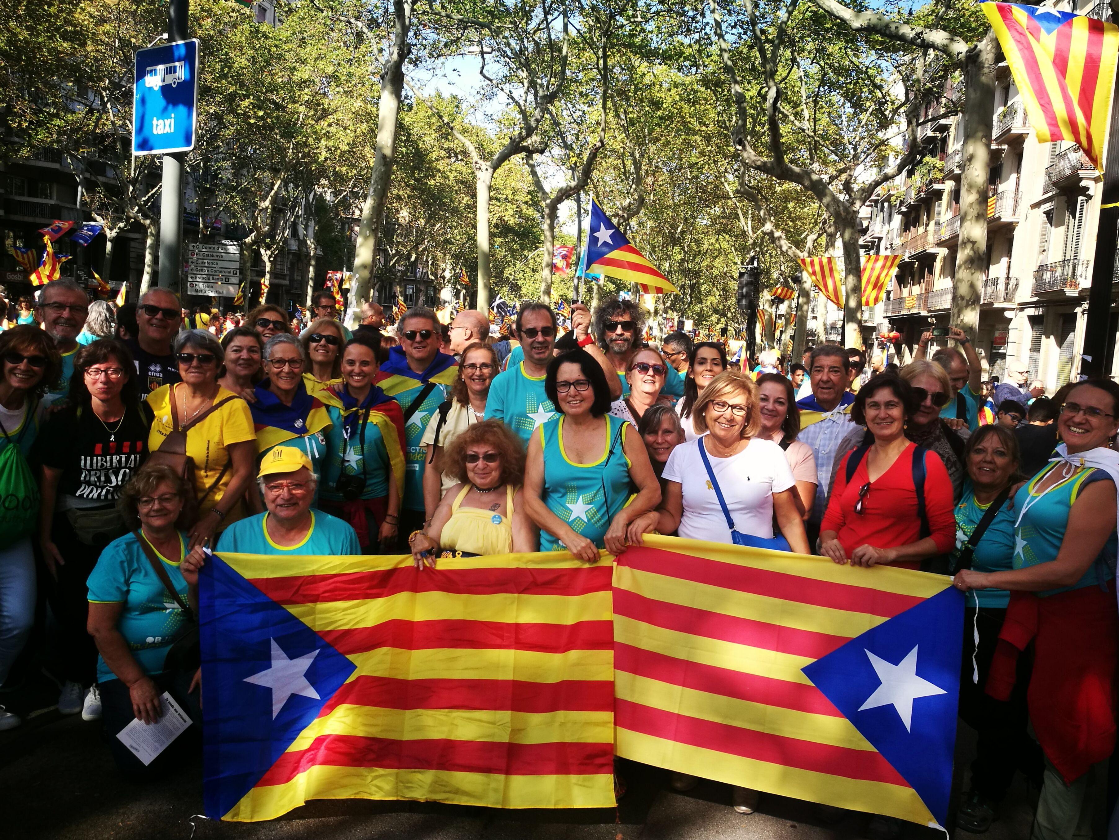 Rubinencs al tram 13 de la manifestació de Barcelona