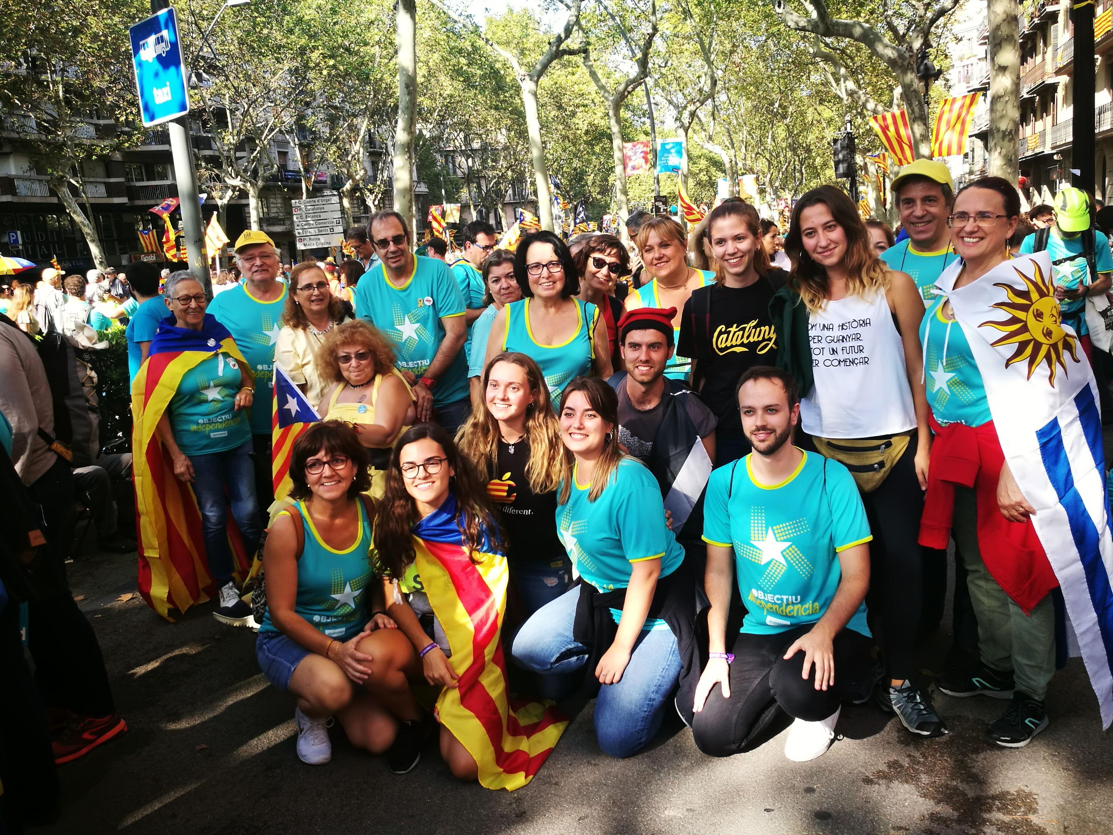 Rubinencs i rubinenques a la manifestació de Barcelona