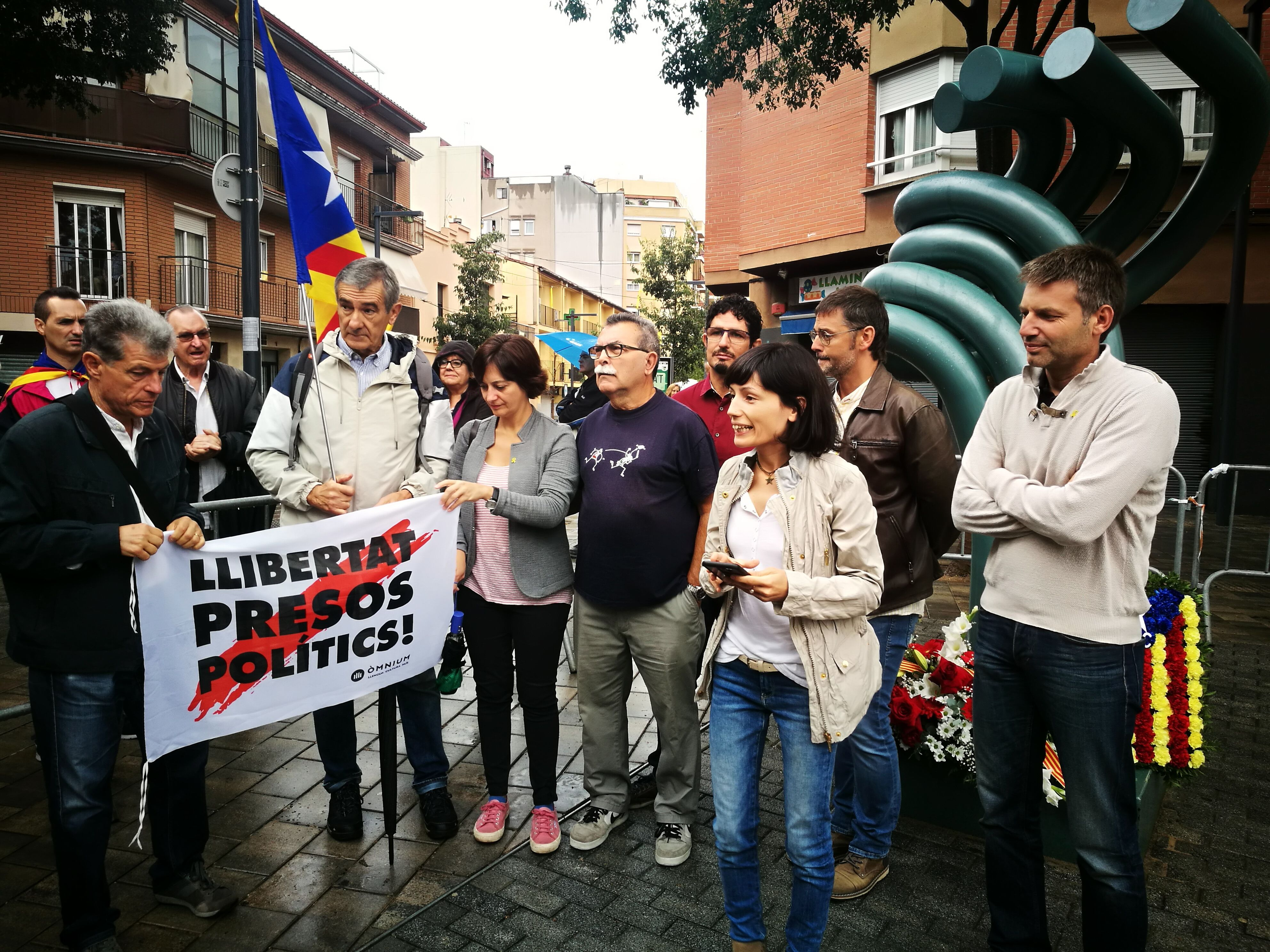 Esquerra Rubí a la darrera Diada de Catalunya a Rubí