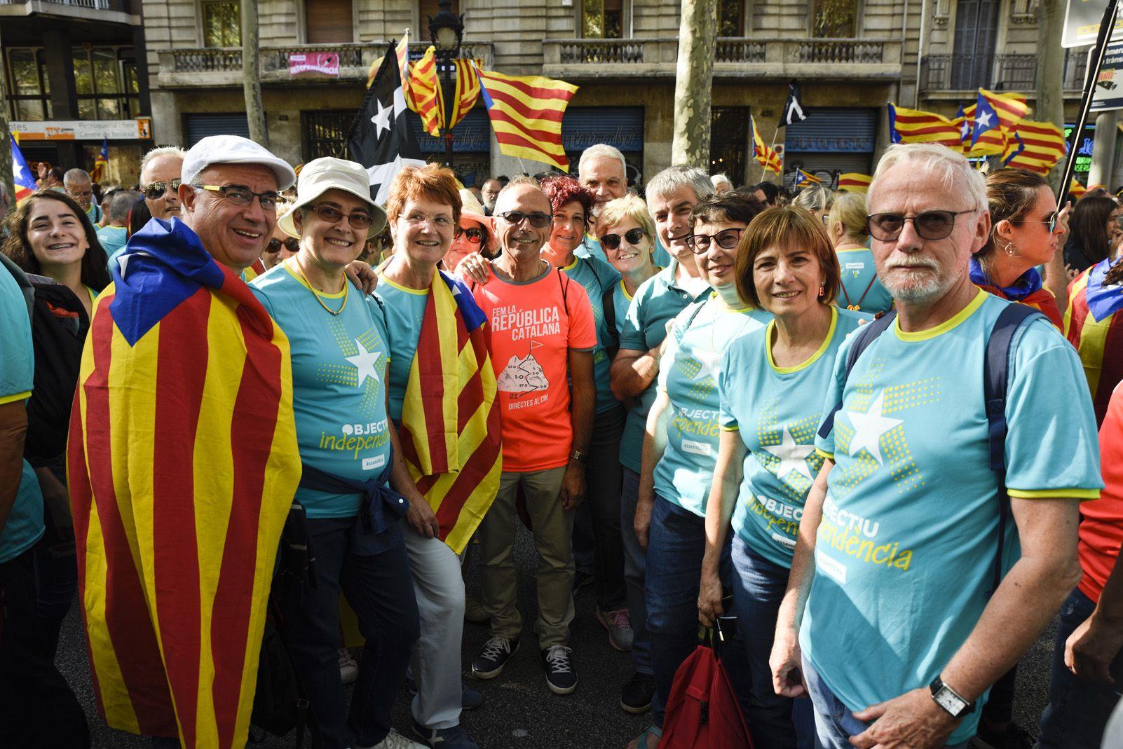 Rubinencs a la manifestació de Barcelona