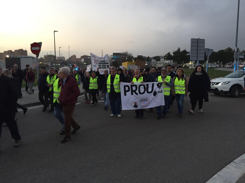 Manifestació contra l'abocador de Can Balasc