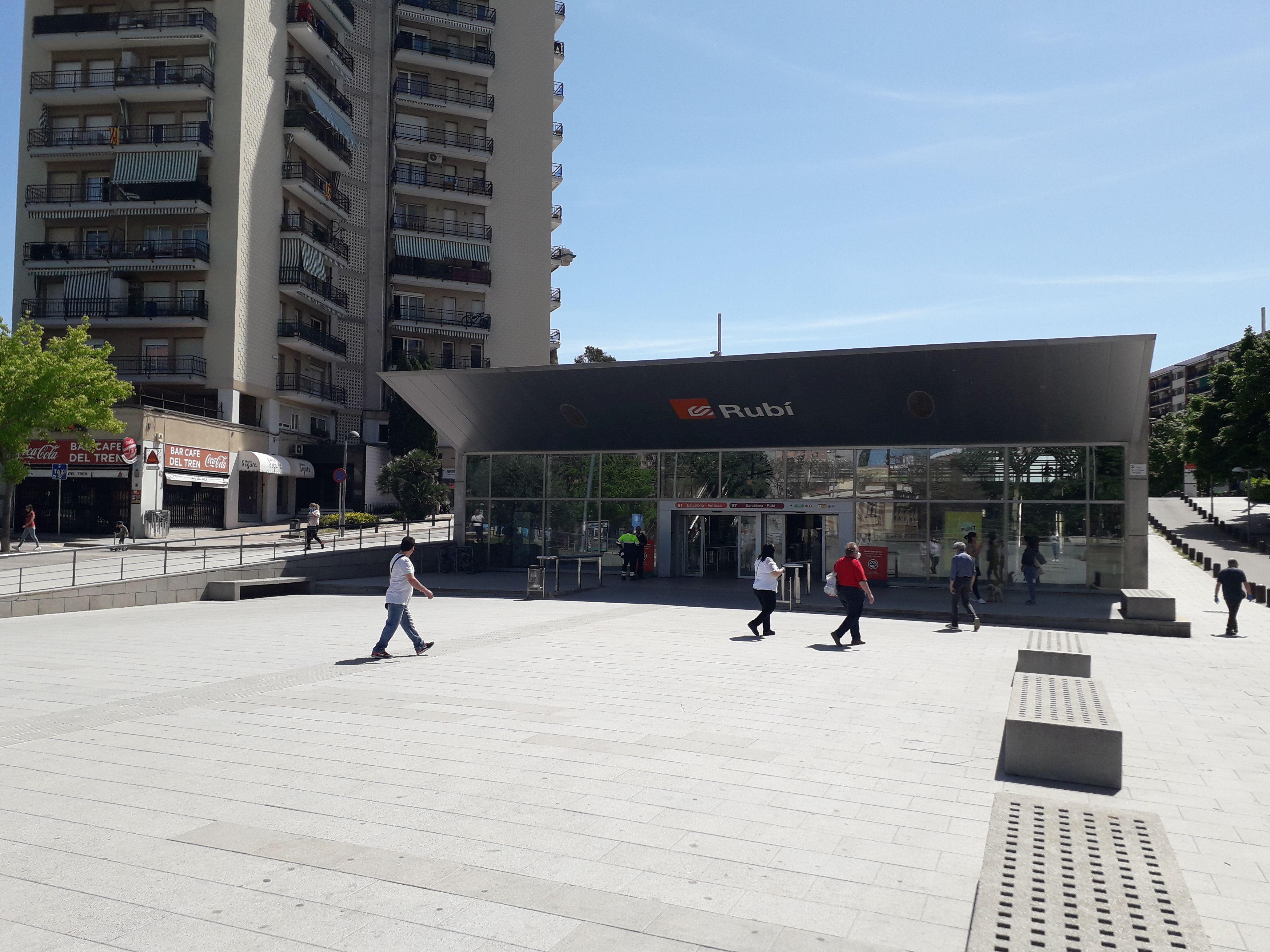 Plaça de la Nova Estació. FONT: Núria HS