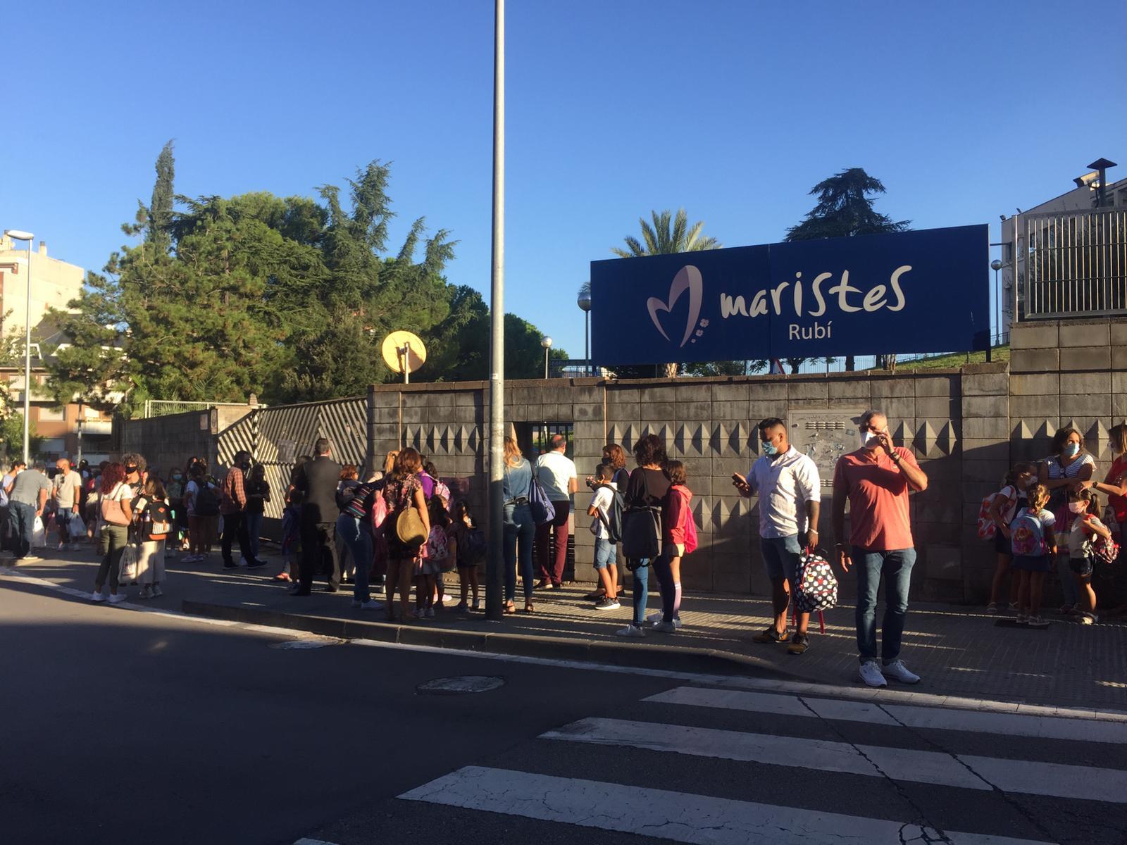 L'Escola Maristes de Rubí el dilluns 14 de setembre. FOTO: Andrea Martínez