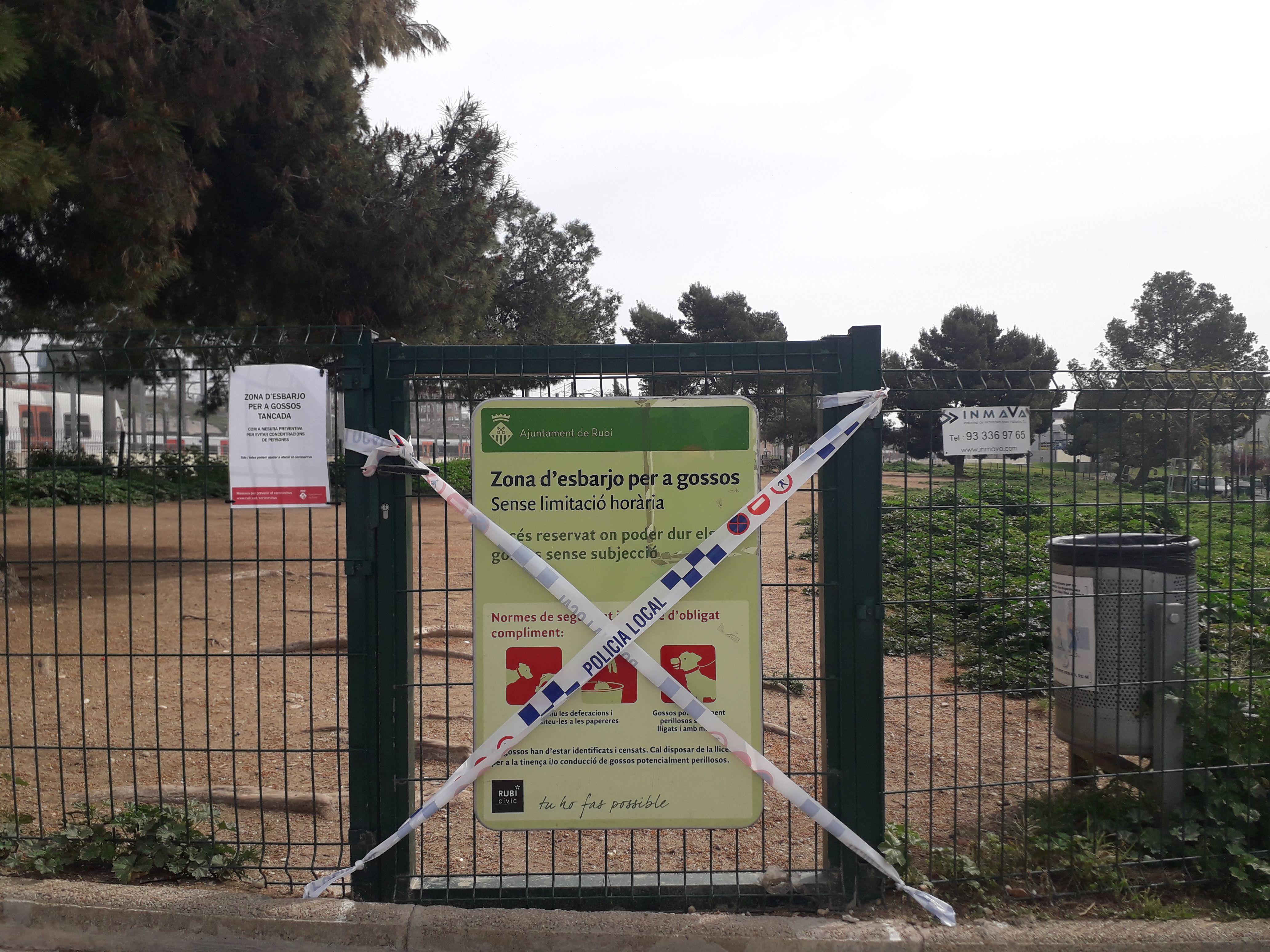 Les zones d'esbarjo tancades en el primer estat d'alarma. FOTO: Redacció