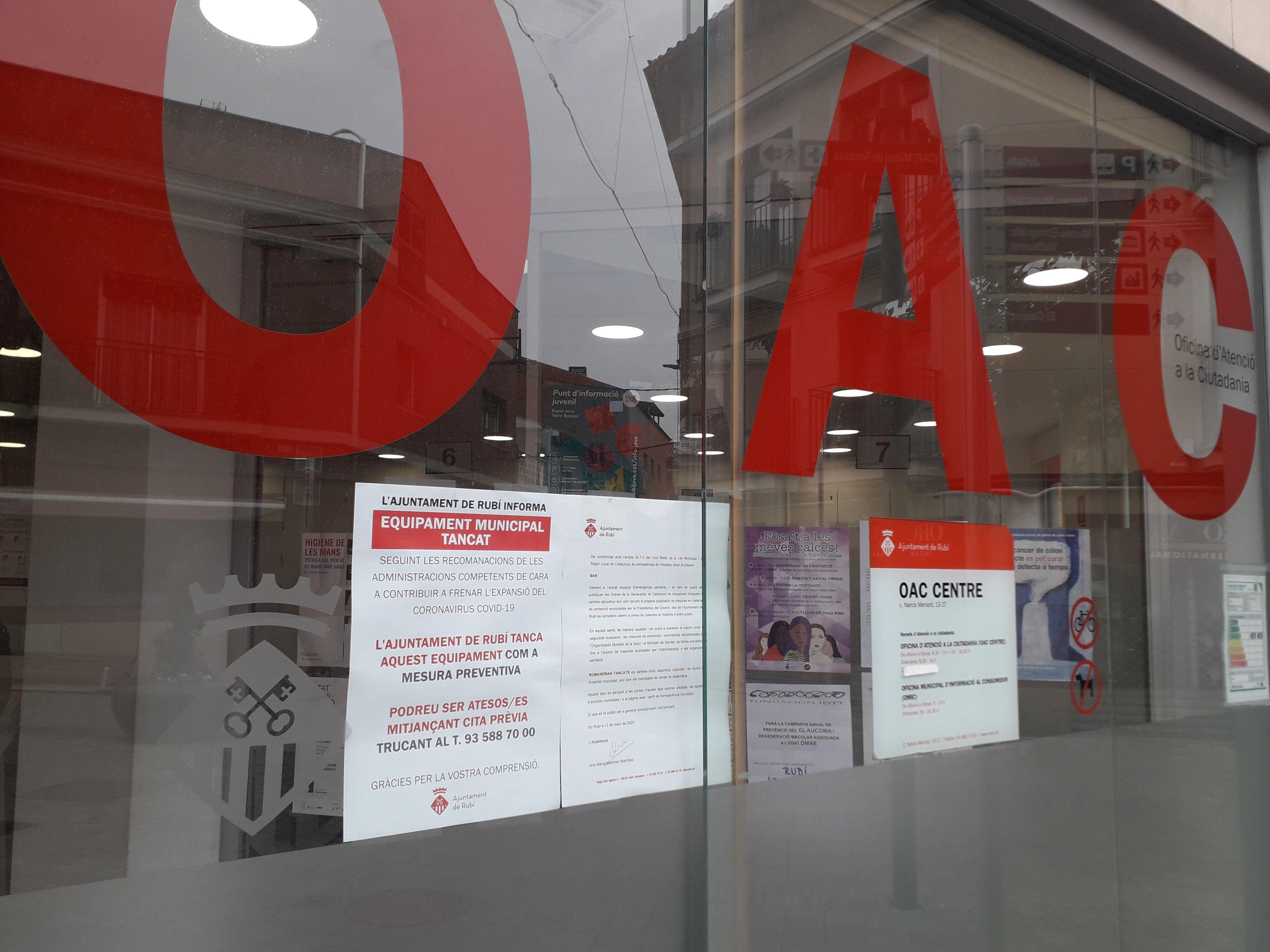 L'Oficina d'Atenció a la Ciutadania (OAC) del centre. FOTO: Redacció