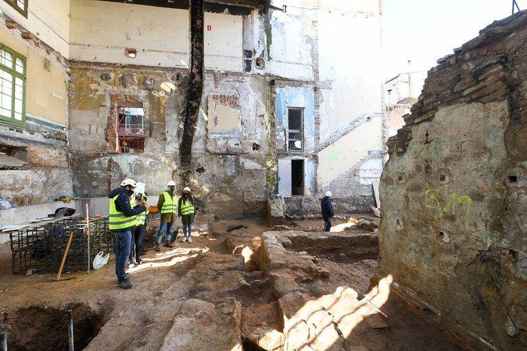 Les restes arqueològiques del Casino. FOTO: Ajuntament de Rubí - Localpres