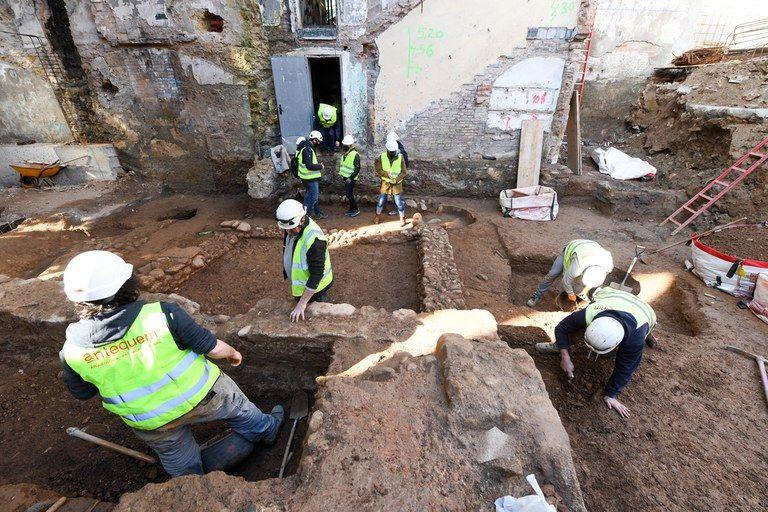 Treballs d'arqueologia al Casino. FOTO: Ajuntament de Rubí - Localpres