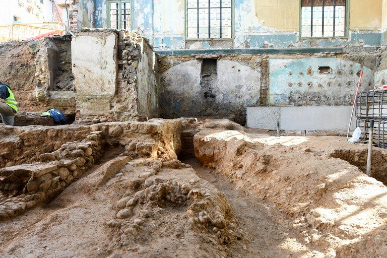 Les obres del Casino han posat al descobert diverses estructures romanes. FOTO: Ajuntament de Rubí - Localpres