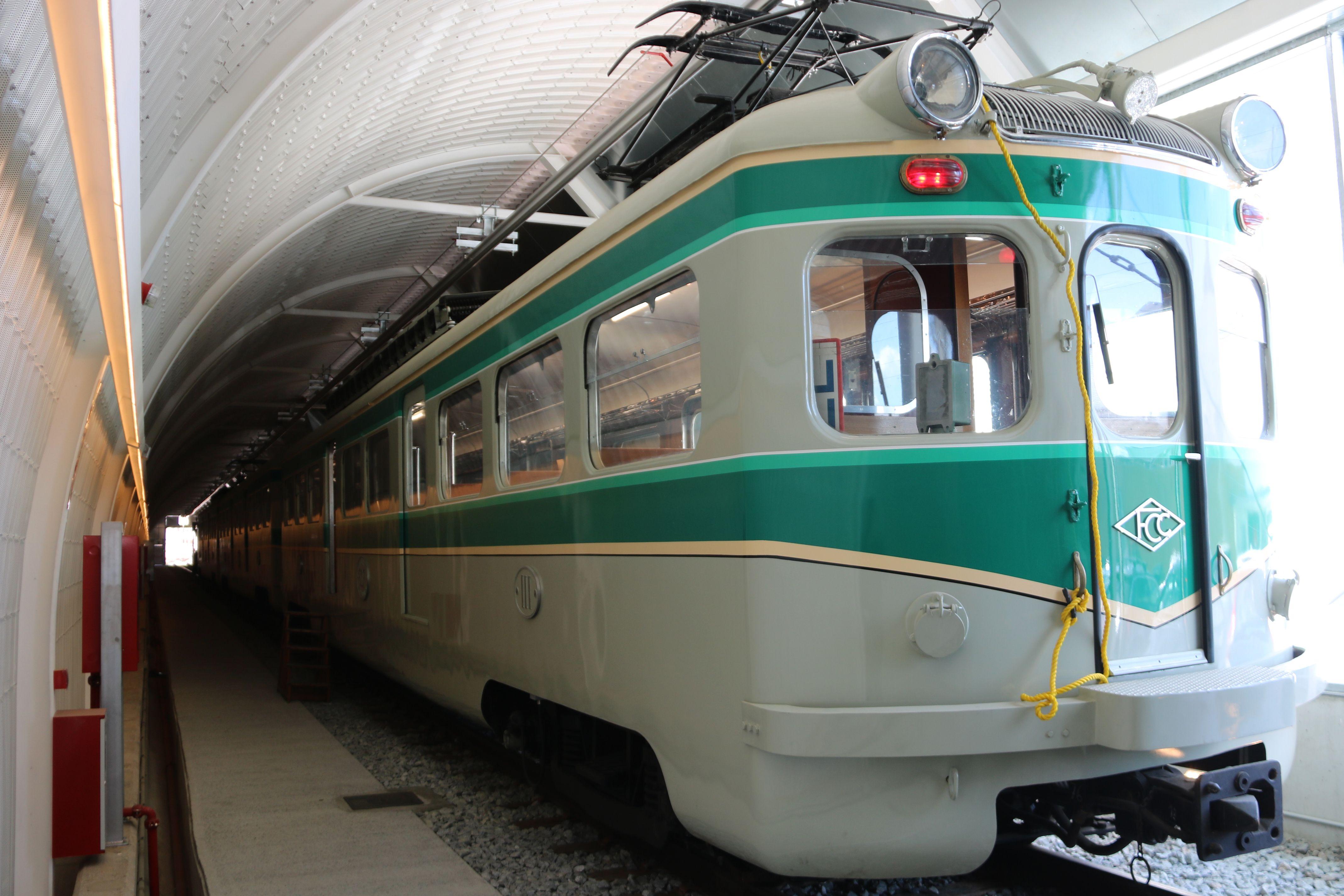 El 'tren Granota' al Centre d'Operacions de Rubí (COR) de Ferrocarrils de la Generalitat (FGC). FOTO: Albert Segura/ACN