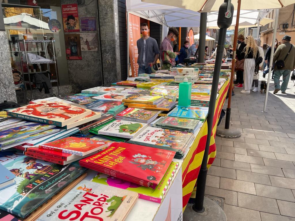 Parada del Racó del Llibre per Sant Jordi 2021. FOTO: N. Hueso