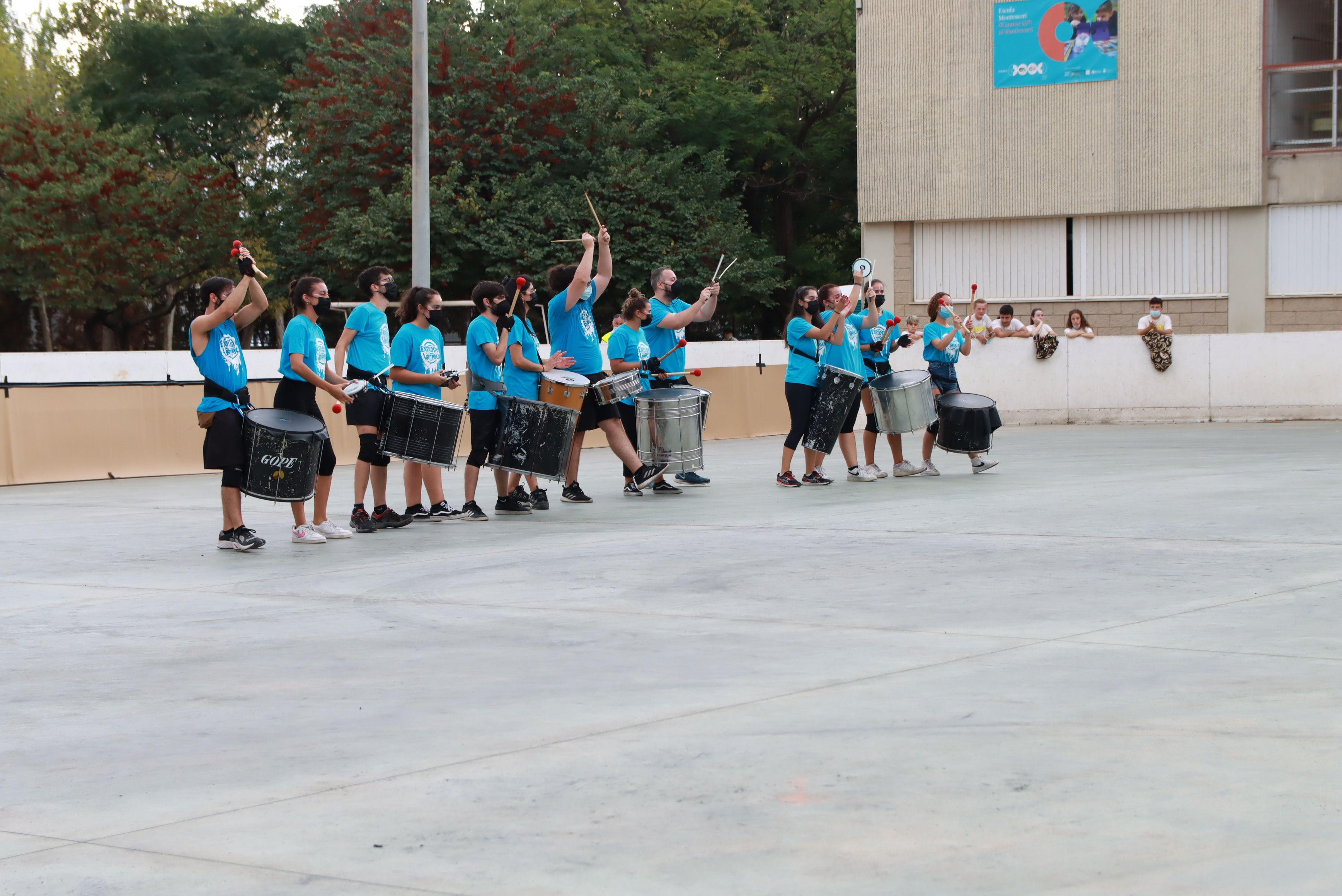 Tabalada a càrrec del grup de percussió Explosió Rítmica. FOTO: Josep Llamas