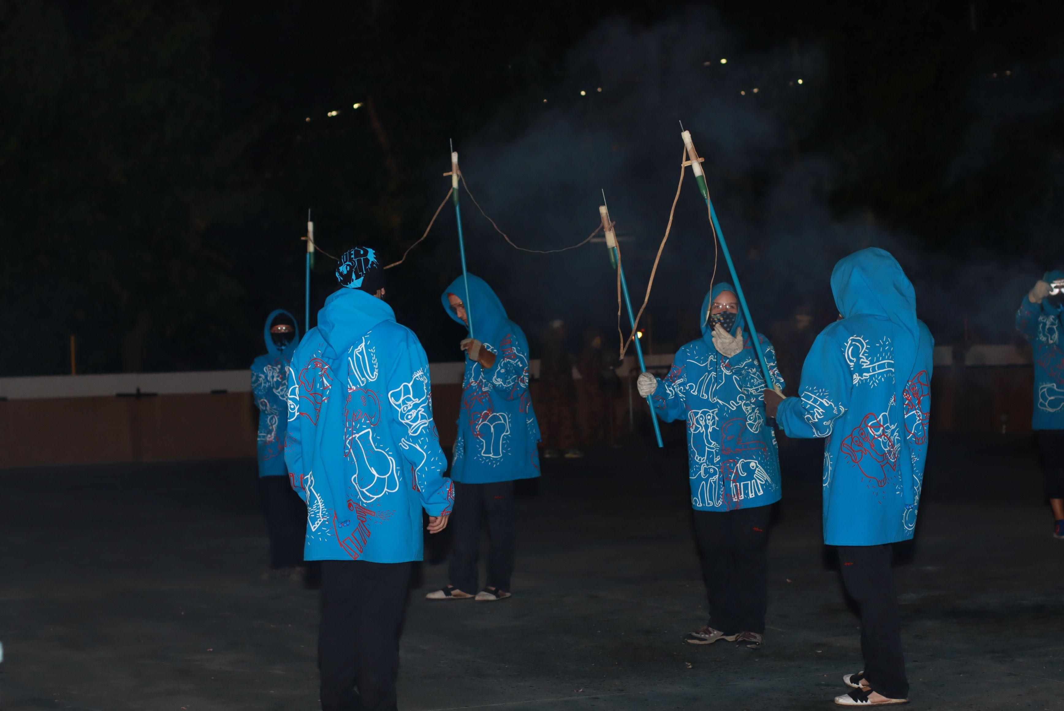 El Bòjum participa com a Bèstia de Foc al raval gran de foc de la Festa Major Petita de Sant Roc. FOTO: Josep Llamas